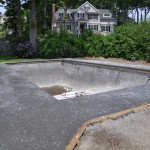 """Salted"" Concrete Deck"